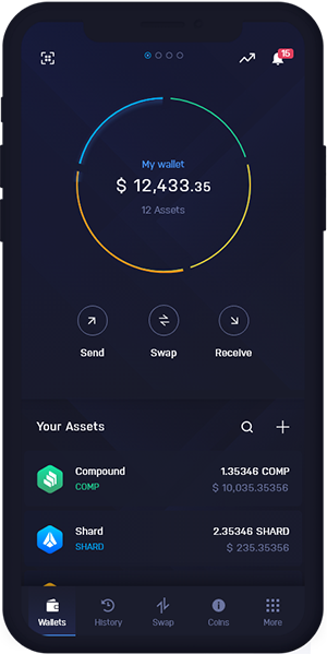 Compound Wallet Mobile Dashboard | COMP Wallet Mobile Dashboard