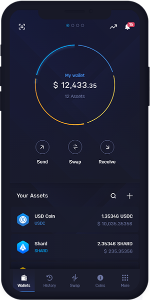 USD Coin Wallet Mobile Dashboard | USDC Wallet Mobile Dashboard
